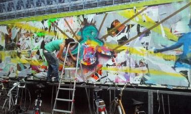 Billboards Intervention at CONTurbanARIES Contemporary and Urban ARt Fair STATTBAD. Berlin, 2014