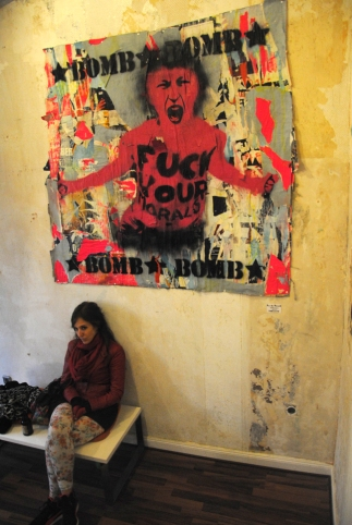 """Fuck your morals. POPUPART gallery """"to russia with love"""" 2013, Berlin"""