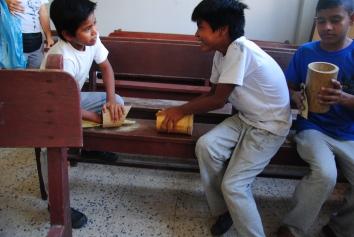 Sanding Guadua
